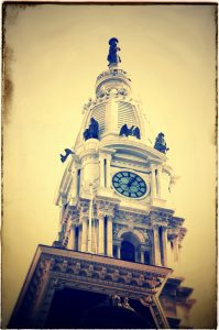 Philadelphia City Hall with Ben Franklin on top